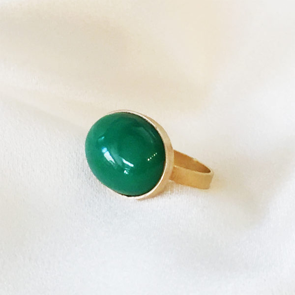 18kt Yellow Gold Chrysoprase Ring | Joann Smyth Pearls and Fine Jewelry